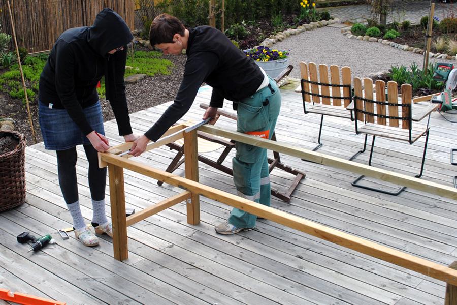 Att bygga ett stabilt trädgårdsbord u2013 DIY Livet på solsidan